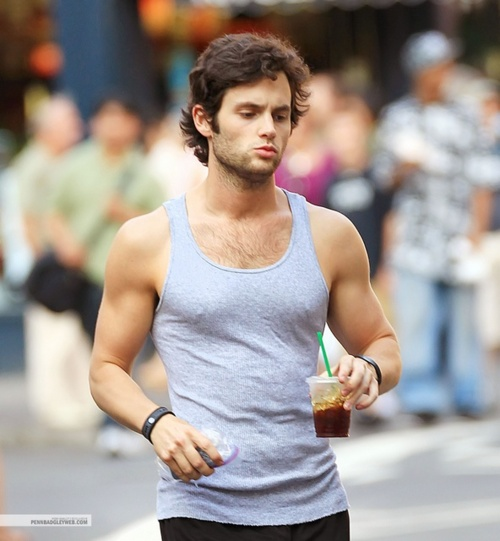 Penn Badgley feet